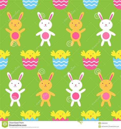 seamless easter pattern stock vector illustration