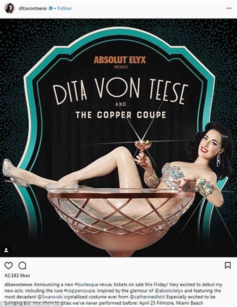 dita von teese tour dita von teese announces us burlesque tour in 2018 daily