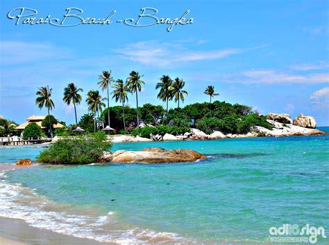 beautiful beach  bangka belitung indonesia
