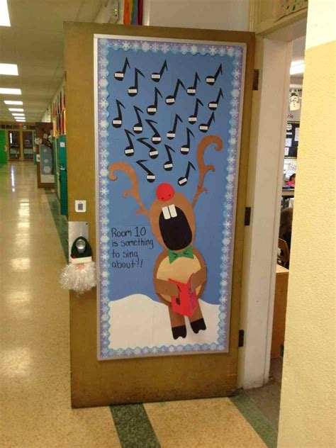 cute christmas door decorations  school