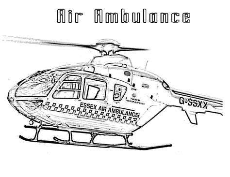 Ambulance Helicopter Coloring Pages 28 Images Helicopter