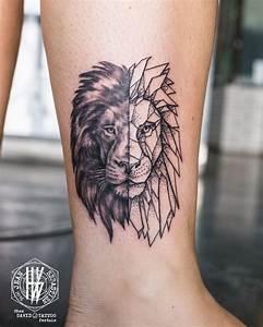 Tatouage Trait Bras : tatouage tete de lion dos ~ Melissatoandfro.com Idées de Décoration