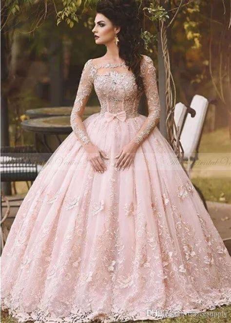 6585 pink lace wedding dress vestido de novia 2017 country blush pink lace 6585