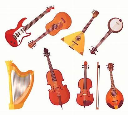 Instruments Cartoon Musical Instrument Vector Guitars Collectio