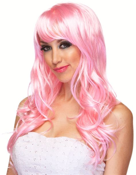 light pink wig light pink curly burlesque wig