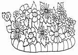 Flowerbed sketch template