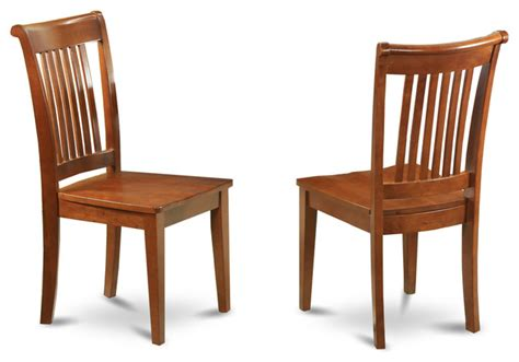 set of 2 portland slat back chair traditional dining