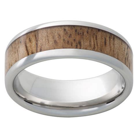 cobalt chrome ring mm  mango wood inlay ccpmango