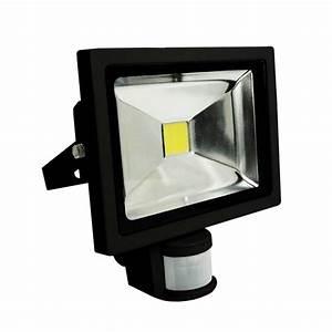 Projecteur Led Detecteur : projecteur led 20 w noir avec capteur cr puscule pr sence ~ Carolinahurricanesstore.com Idées de Décoration