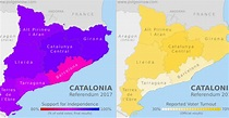 Updated! Catalonia Referendum Results Maps: How Did Each ...
