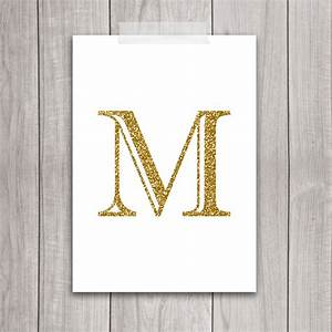 75 off sale gold letter art 5x7 letter m wall art gold With gold monogram letters for wall