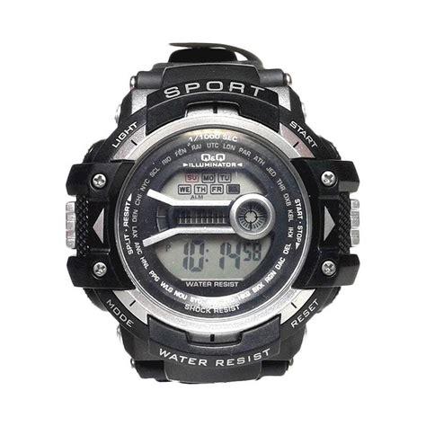 Qnq Digital Jam Tangan Premium jual qnq digital sport jam tangan pria black