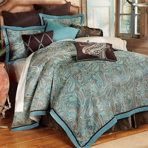 western bedding sets king size cypress falls bed setlone