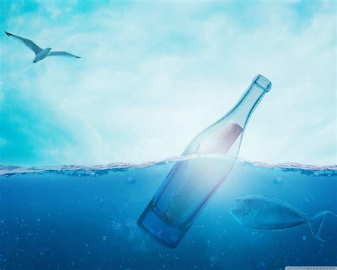 Love You Message In A Bottle 4k Hd Desktop Wallpaper For