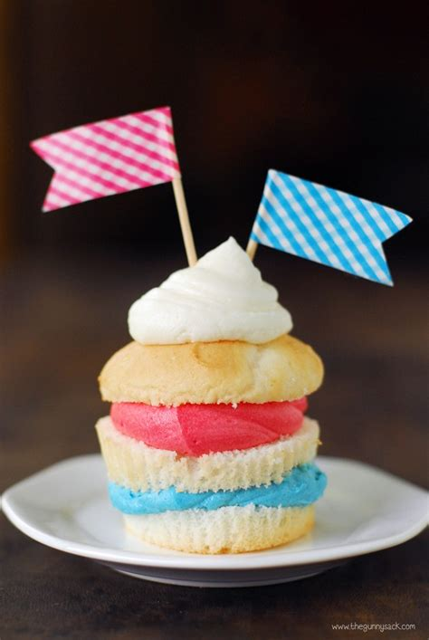 4th of july cupcake red white and blue ooey gooey bars
