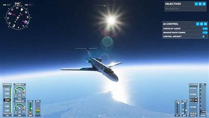 Flight Simulator Microsoft Space Low Achieve Sim