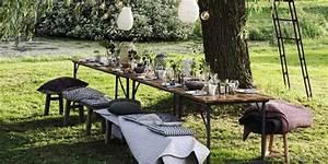 Table Pour Terrasse : recevoir au jardin toutes nos id es d co marie claire ~ Teatrodelosmanantiales.com Idées de Décoration