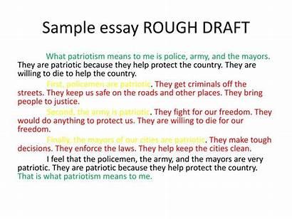 Draft Essay Rough Example Sample Powerpoint Write