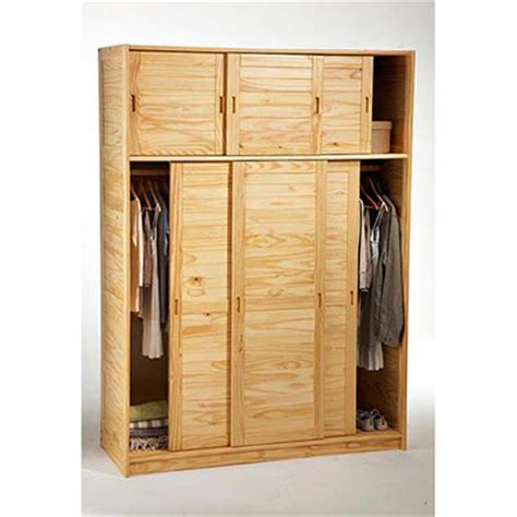 armoire 3 portes avec surmeuble m 233 lissa naturel