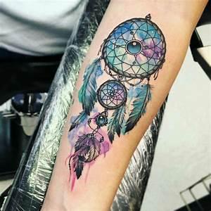 Tattoo Traumfänger Bedeutung : diese bedeutung hat das traumf nger tattoo 50 ideen und motive ~ Frokenaadalensverden.com Haus und Dekorationen