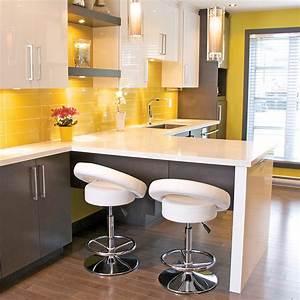 Element De Cuisine : ides de deco cuisine jaune et gris galerie dimages ~ Melissatoandfro.com Idées de Décoration