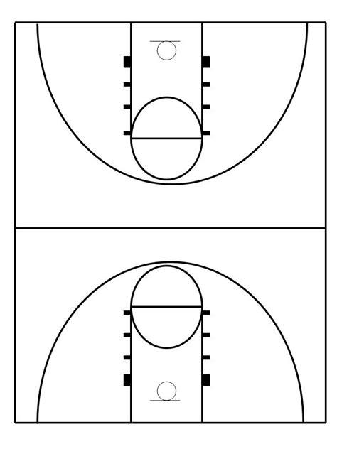 Outdoor Basketball Court Template Basketball Diagrams Printable Diagram