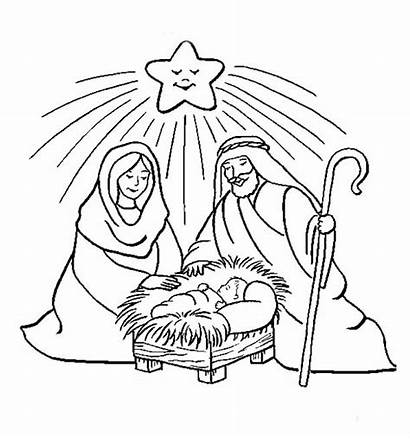 Jesus Birth Coloring Pages Nativity Christmas Sheets