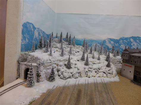 winter scene model train layout google search model