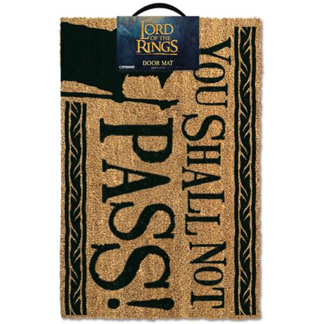 you shall not pass doormat the lord of the rings you shall not pass doormat iwoot