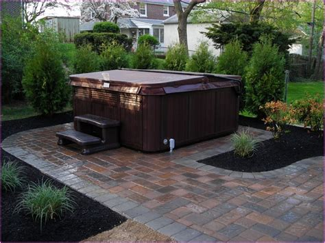 tub patio designs garden with brick patio and hot tub pet safe fertilizer for chsbahrain com