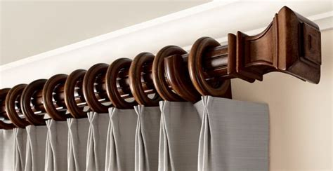 Wooden Decorative Traverse Curtain Rods by Wood Trends 174 Classics Kirsch