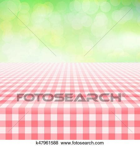 empty picnic gingham tablecloth green background clip art