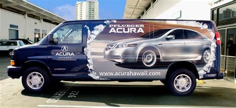 Pflueger Acura Parts Delivery Van Wrap