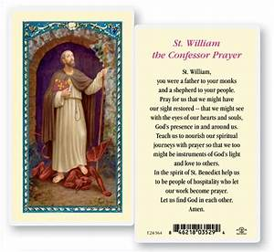 St  William Laminated Prayer Cards 25 Pack