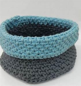 Corbeille Au Crochet : trousse et corbeille au crochet la mercerie ~ Preciouscoupons.com Idées de Décoration