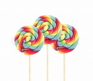 Lollipop candy on white background | Stock Photo | Colourbox