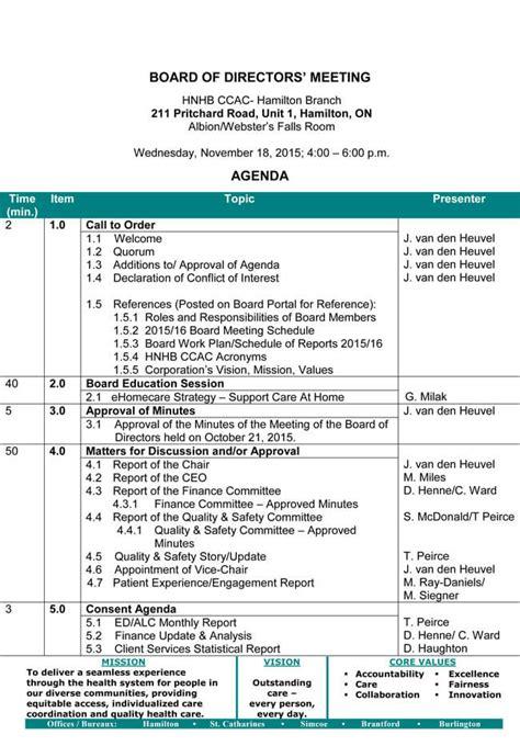 board meeting agenda templates guidelines  helpful tips