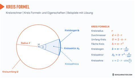wie rechnet man den umfang vom kreis wenn man den radius