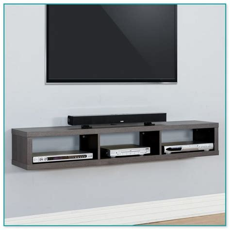 floating shelves  wall mounted tv