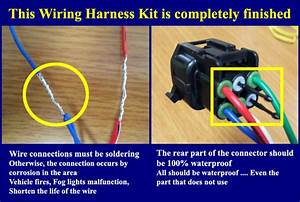 Fog Light Lamp Complete Kit   Wiring Harness Kit For