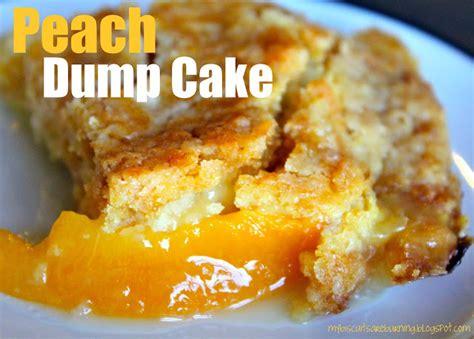 biscuits  burning peach dump cake