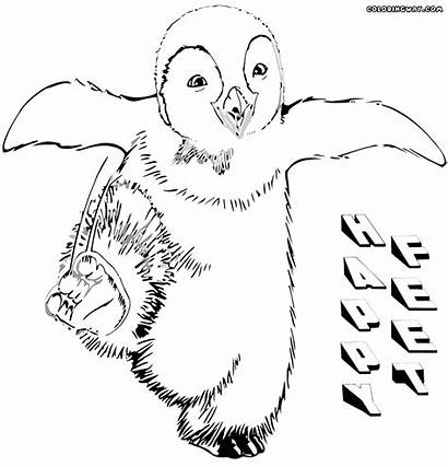 Feet Happy Coloring Pages Cartoon Colorings