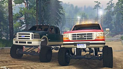 Ford 6.0 Powerstroke Vs 7.3 Obs On Dirt Time