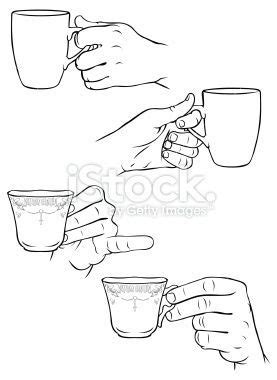 Drawing coffee mug coffee mug coffee drawing mug drawing cup coffee mugs symbol cafe decorative drink decoration beverage emblem icon element retro classic sketch brown template background outline coffee cup cups ornament elements coffee beans drawn espresso elegance. Vector illustrations of hands holding tea cups and coffee mugs. in 2020 | How to draw hands ...