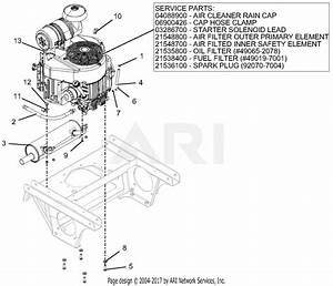 Gravely 992253  041000 - 999999  Pro-turn 252 Parts Diagram For Engine