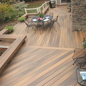 Terrasse Lame Composite : terrasse en bois composite lame fiberon horizon decklinea ~ Edinachiropracticcenter.com Idées de Décoration
