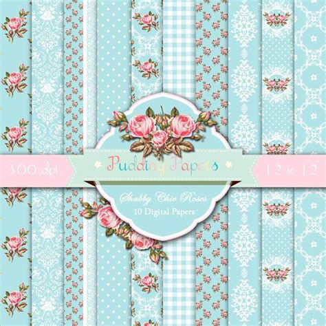 Shabby Chic Laden by Shabby Chic Roses Instant Digital Scrapbook