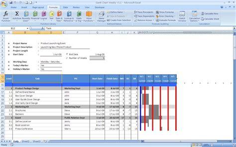 software  gantt chart templates excel