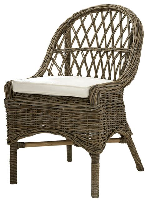 kubu cross weave dining chair set of 2 tropical