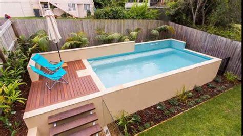 Small Backyard  Ground Pool Ideas Youtube